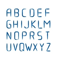 English modern letters set over black vector