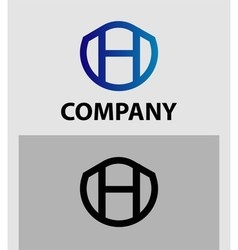 Abstract letter h logo symbol vector