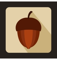 Acorn icon in flat style vector image vector image