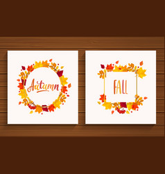 autumn and fall cards vector image
