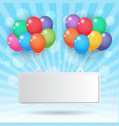 Balloons with banner vector