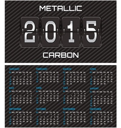 bilateral business card with calendar and carbon vector image vector image