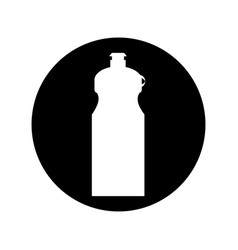 Bottle water gym isolated icon vector