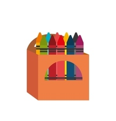 Cartoon crayons box design vector