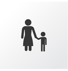 child icon symbol premium quality isolated madame vector image