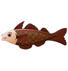 Cod fish cartoon vector
