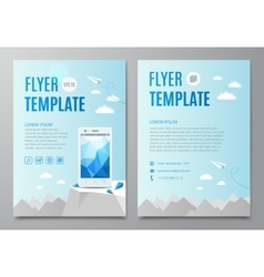 Design layout flyer book cover with modern white vector image vector image