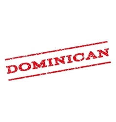 Dominican Watermark Stamp vector image