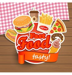 Fast food design template vector image vector image
