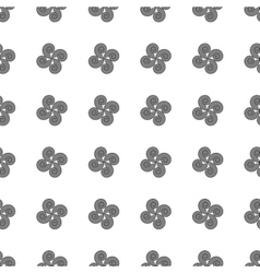 Flower geometric seamless pattern 506 vector image