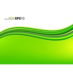 Green waves ecology background vector