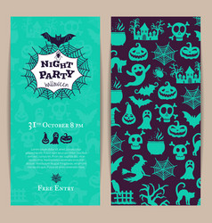 halloween party thin invitation card vector image vector image