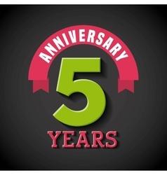 happy anniversary design vector image vector image