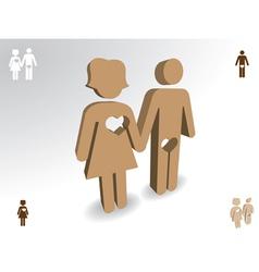 Happy families vector image vector image