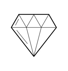 Luxury diamond isolated icon vector