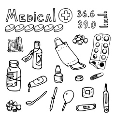 medical topics vector image
