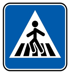 Pedestrian sign resize vector image