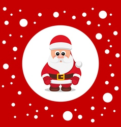 SantaClausRedBG vector image
