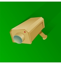 Security camera cartoon vector image