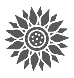 Sun flower glyph icon farming and agriculture vector
