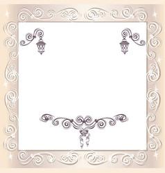 vintage wedding frame vector image vector image