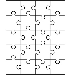 white puzzle 2 vector image