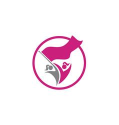 Woman freedom empowerment vector