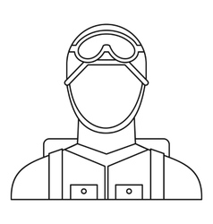 Military paratrooper icon outline style vector
