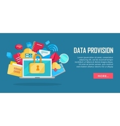 Data provision banner vector