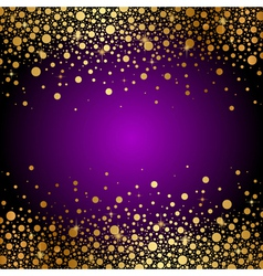purple and gold luxury background vector image