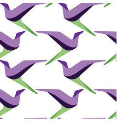 Abstract and contemporary birds seamless surface vector