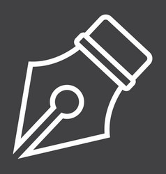 Fountain pen line icon education and ink vector