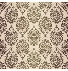 Gold patina baroque pattern vector