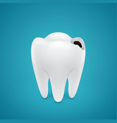 Start teeth caries vector