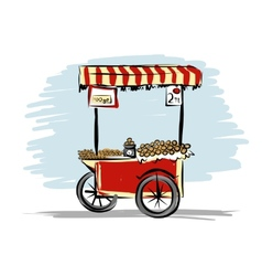 Street food cart for your design vector