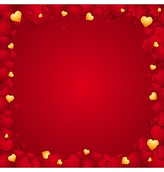 Lovely background of hearts vector