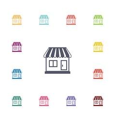 shop flat icons set vector image