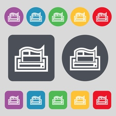 Newspaper icon sign a set of 12 colored buttons vector