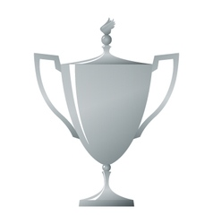 Cup of winner silver trophy cup vector