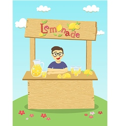 Lemonade boy cartoon vector