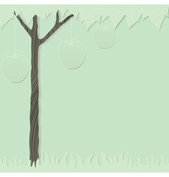 Cutout tree green 1 vector