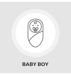 Baby Boy Flat Icon vector image