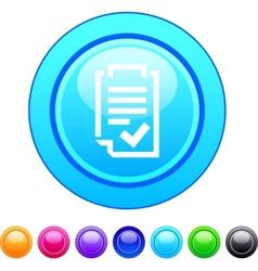 Form circle button vector image