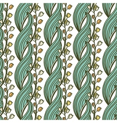 Hand drawn seamless pattern with may-lily flowers vector