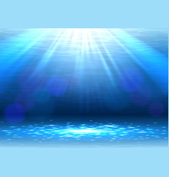 abstract blue underwater background vector image vector image