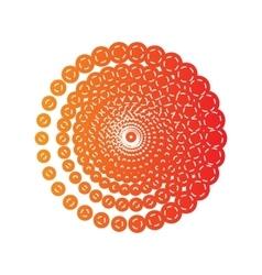 Abstract technology circles sign Orange applique vector image