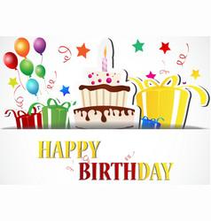 Birthday card celebration vector