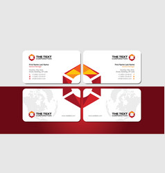 Business card with colored polygonal hexagon vector