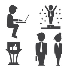 Business success icon on white background vector