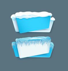 cartoon realistic winter banner set vector image